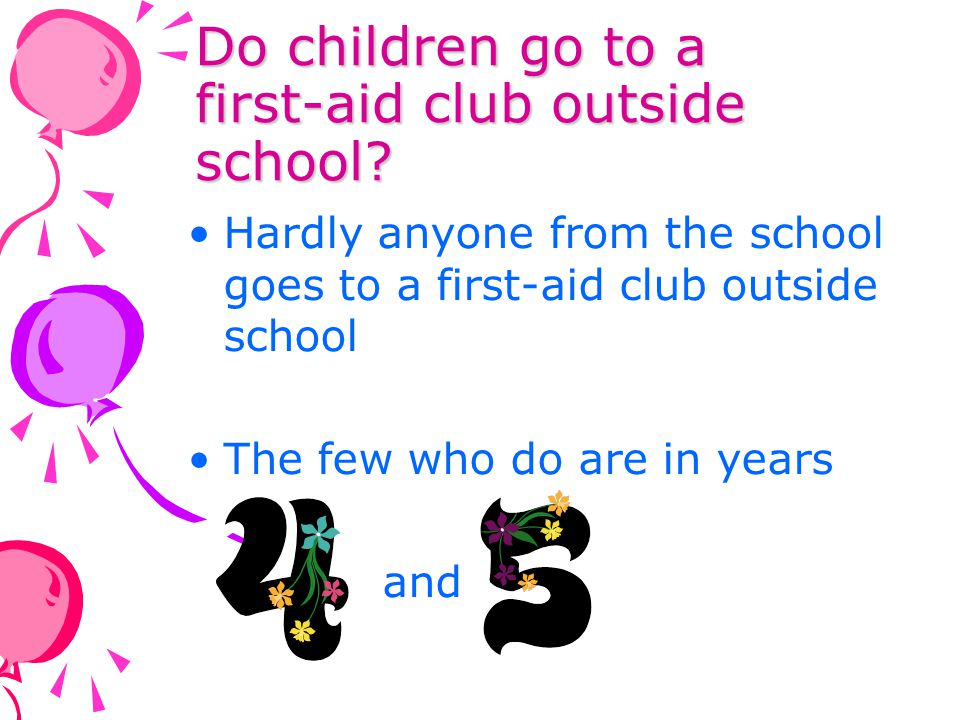 Do children go to a first-aid club outside school