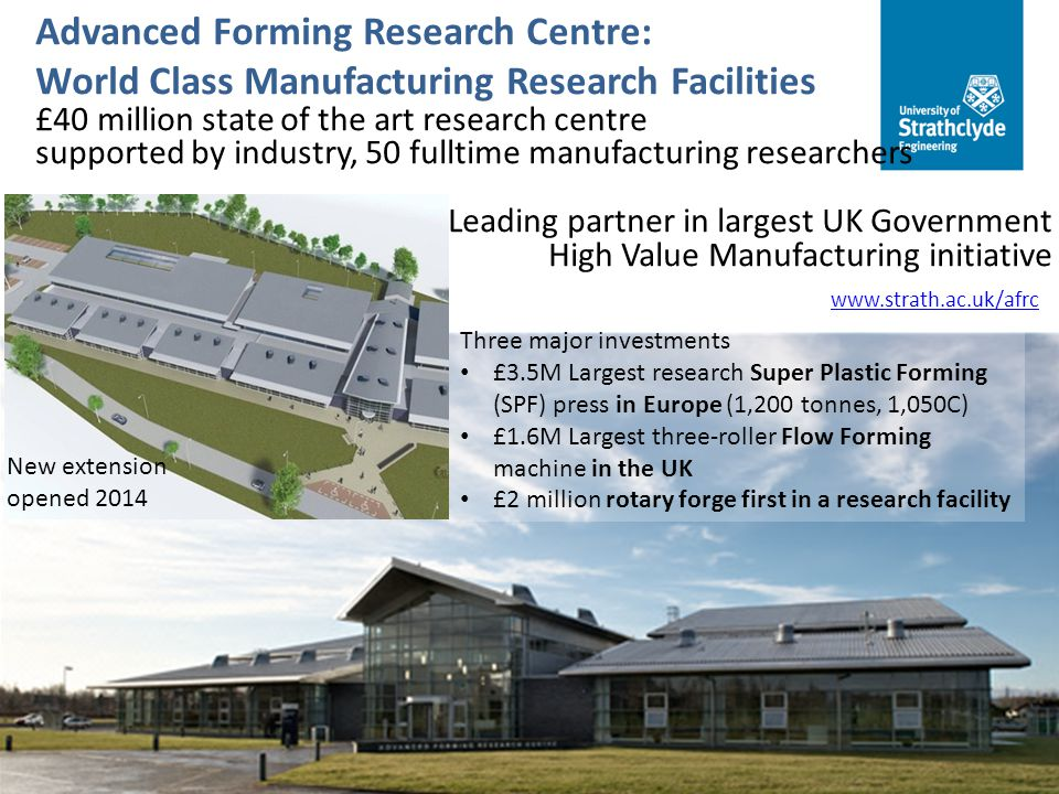 Advanced Forming Research Centre: