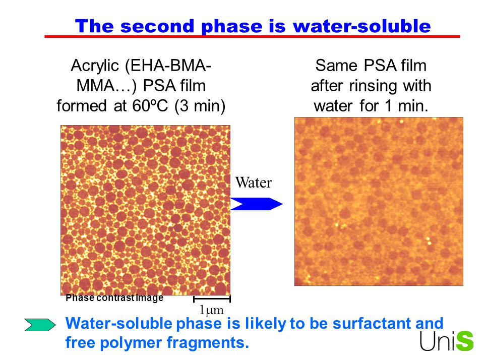 The second phase is water-soluble