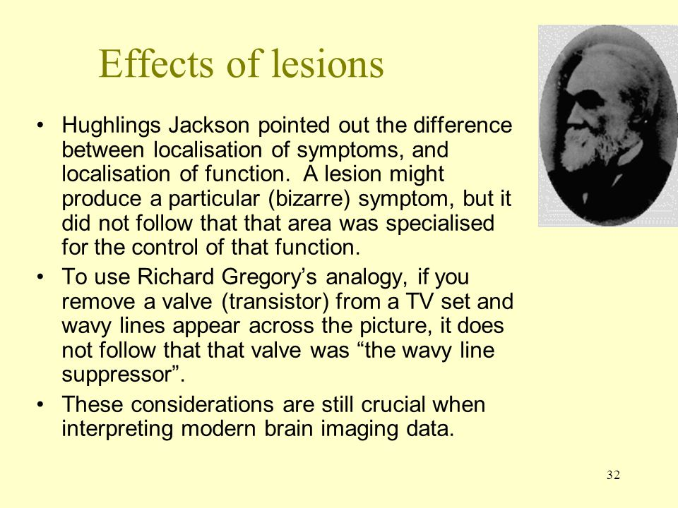 Effects of lesions