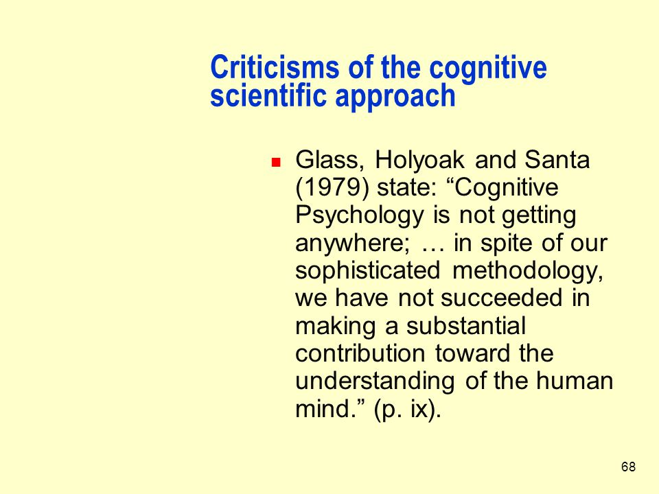 contribution of cognitive psychology