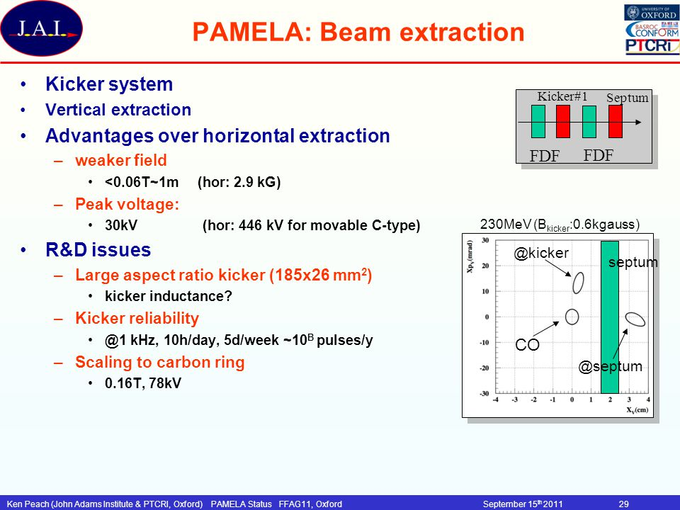 PAMELA: Beam extraction