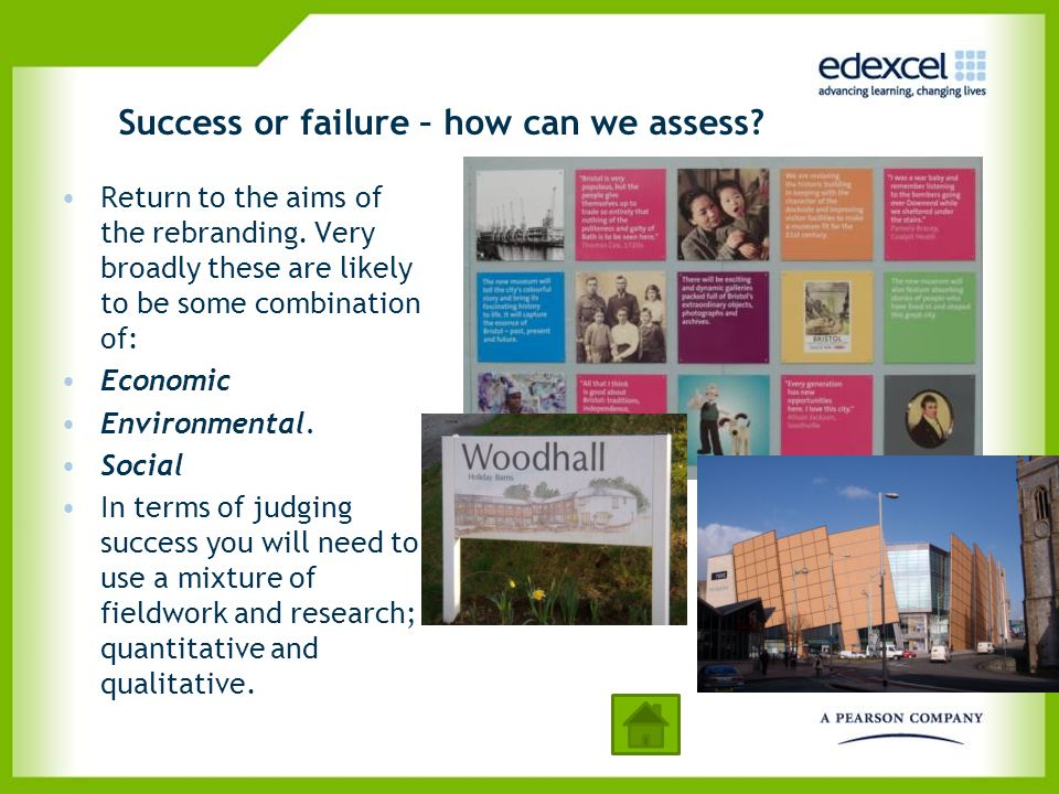 Success or failure – how can we assess