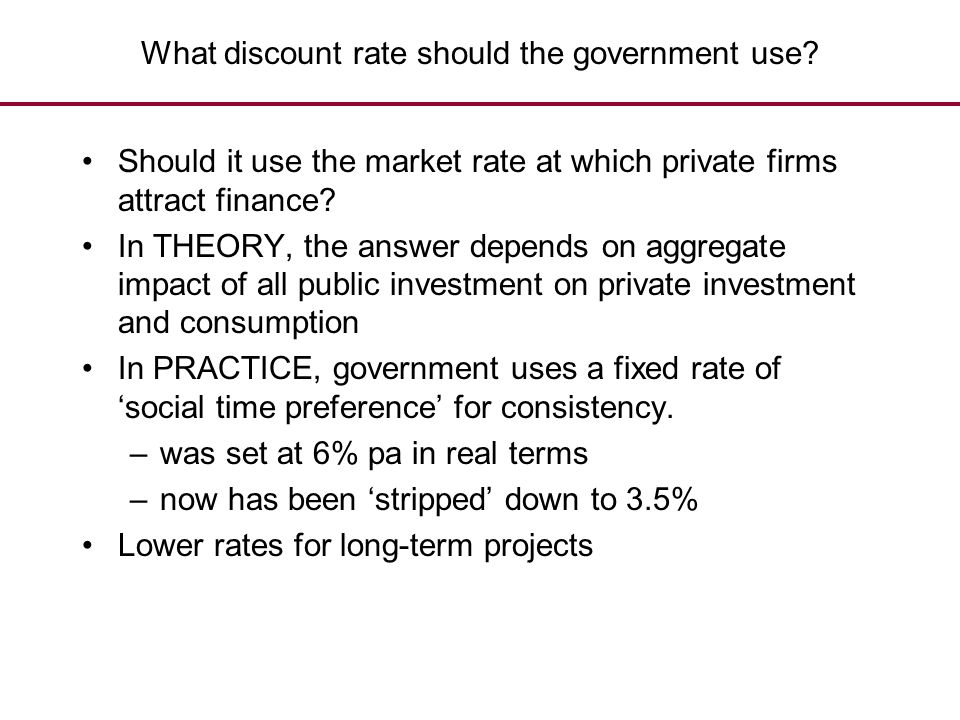What discount rate should the government use