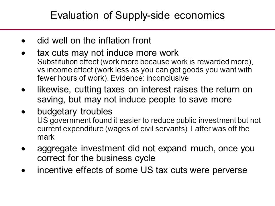 Evaluation of Supply-side economics