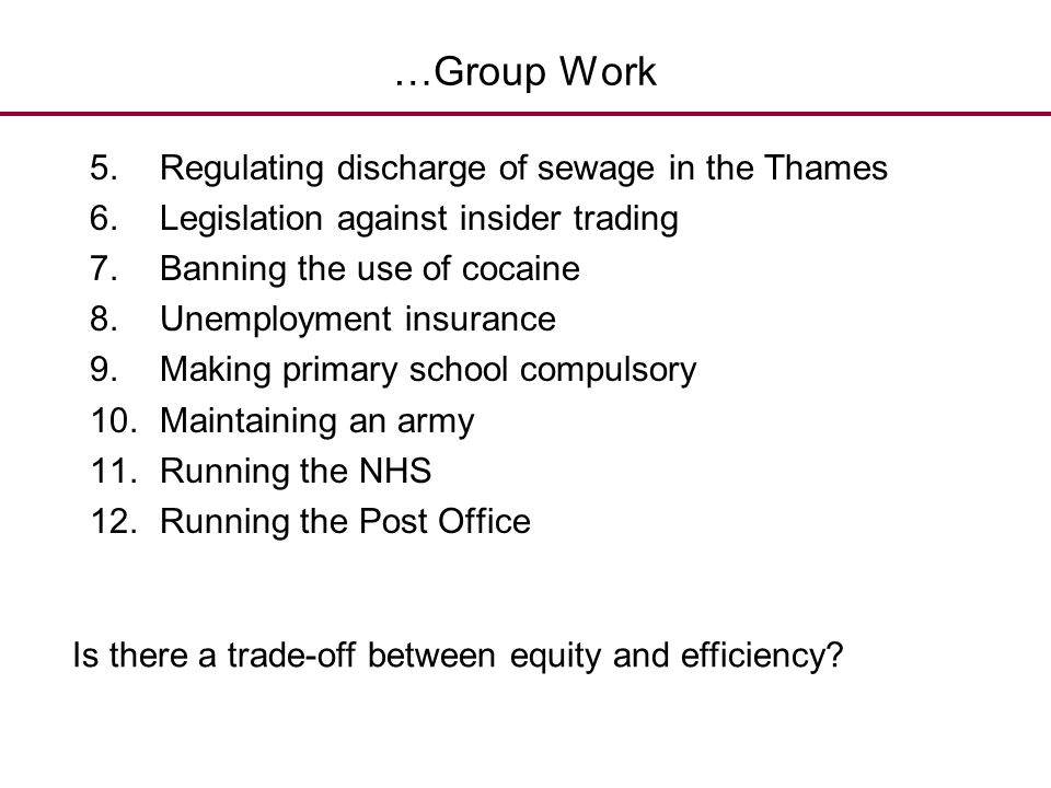 …Group Work Regulating discharge of sewage in the Thames