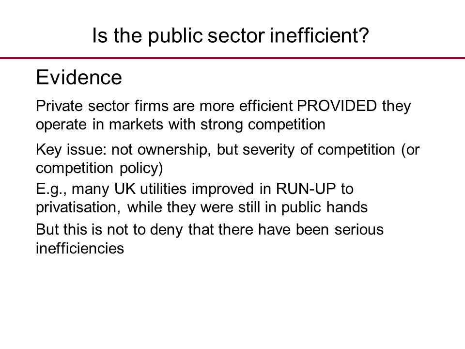 Is the public sector inefficient