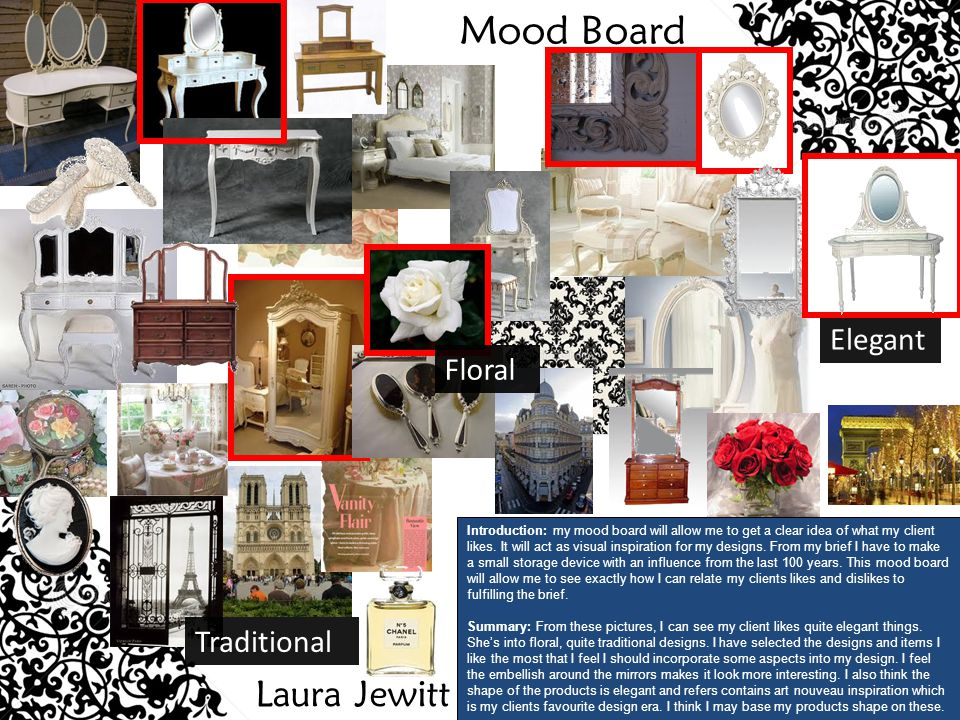 Mood Board Laura Jewitt Elegant Floral Traditional