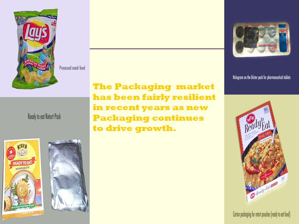 The Packaging market has been fairly resilient in recent years as new Packaging continues to drive growth.