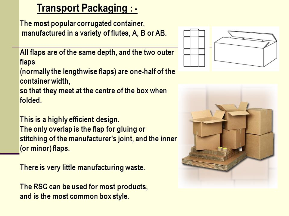 Transport Packaging : -