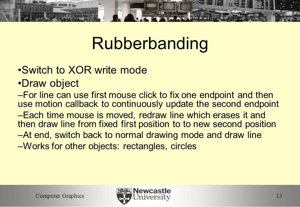 Rubberbanding Switch to XOR write mode Draw object
