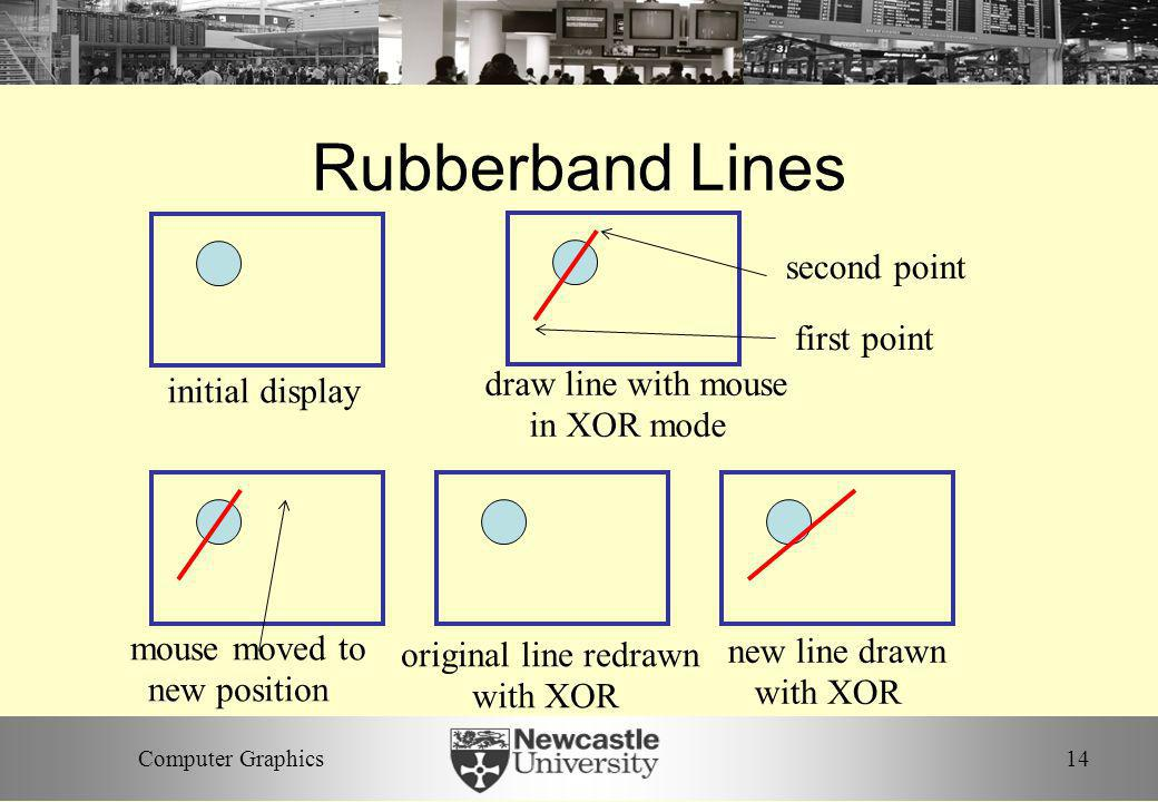 Rubberband Lines second point first point draw line with mouse