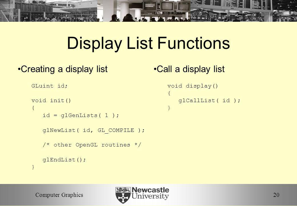 Display List Functions