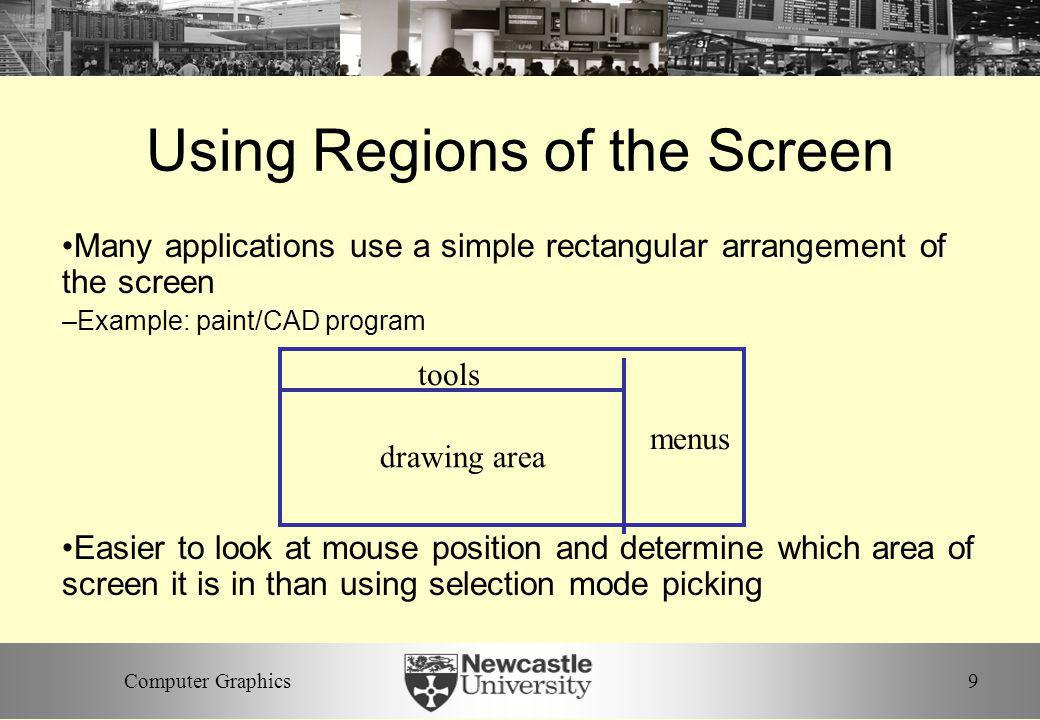 Using Regions of the Screen