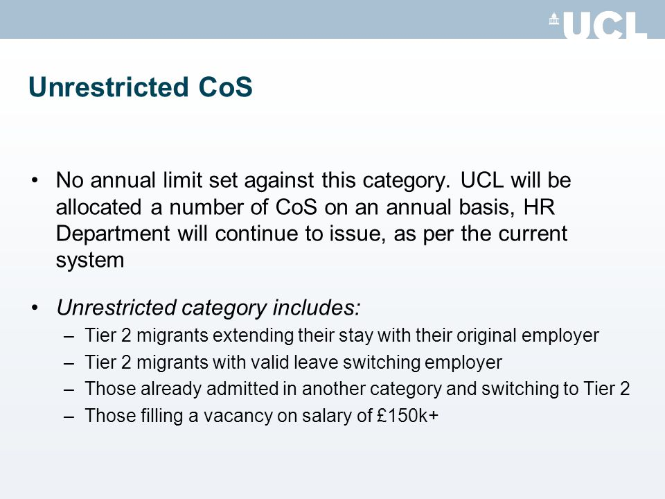 Unrestricted CoS