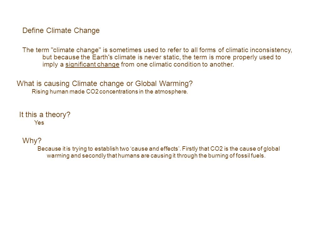 What is causing Climate change or Global Warming