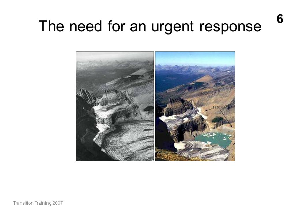The need for an urgent response