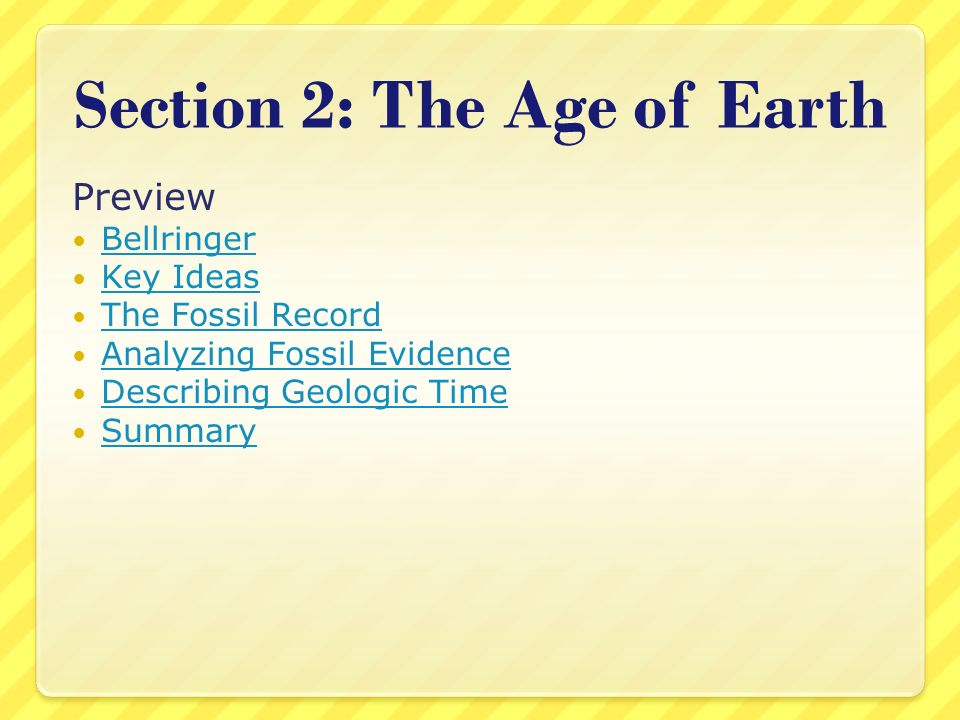 Section 2: The Age of Earth