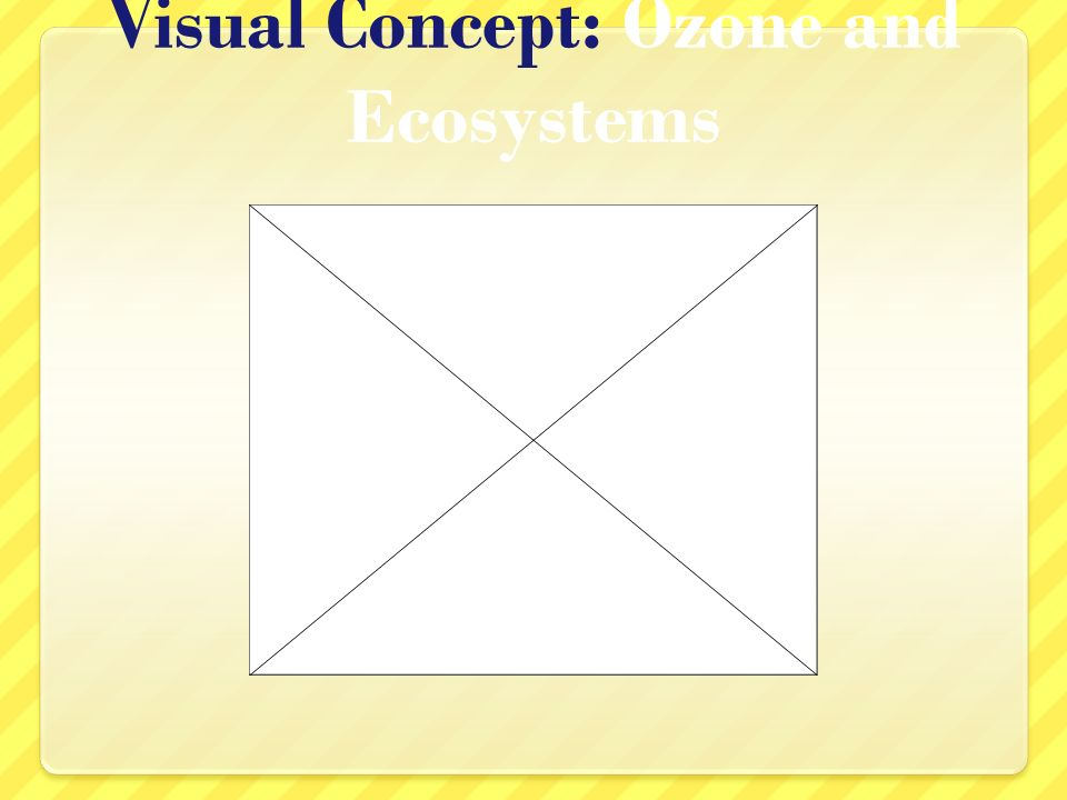 Visual Concept: Ozone and Ecosystems