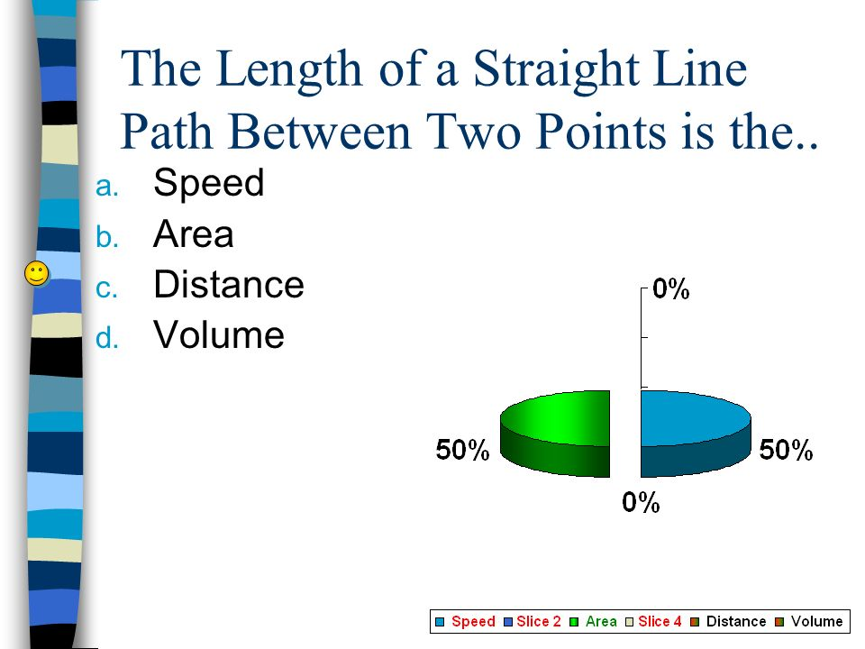 The Length of a Straight Line Path Between Two Points is the..