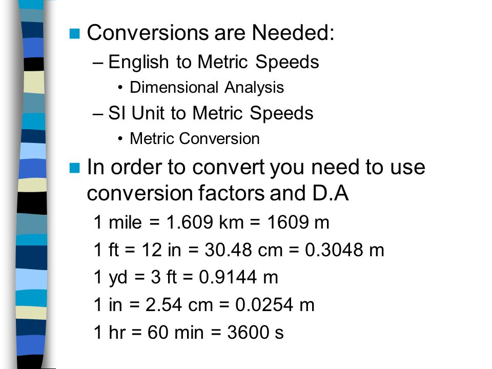 Conversions are Needed: