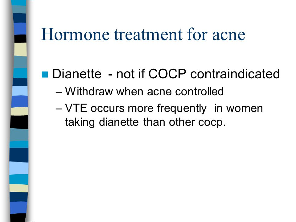 Hormone treatment for acne
