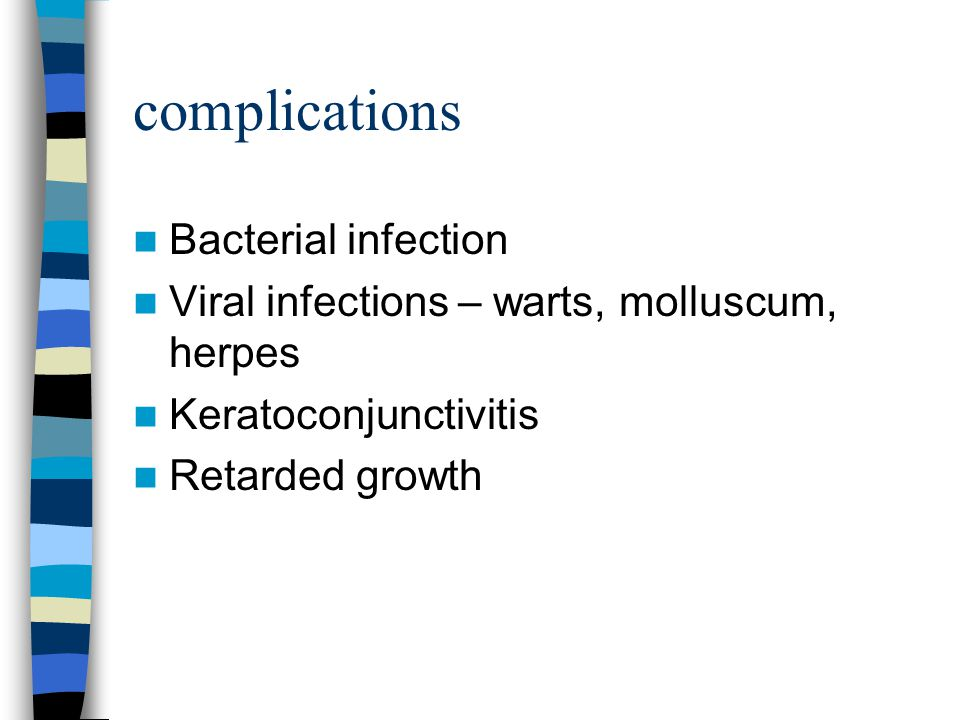 complications Bacterial infection