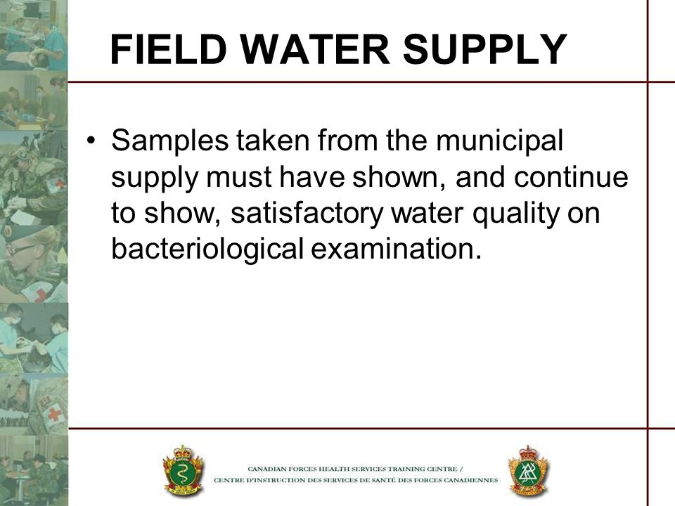 FIELD WATER SUPPLY