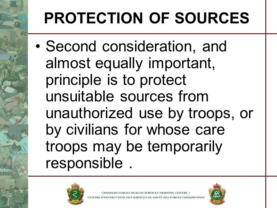 PROTECTION OF SOURCES