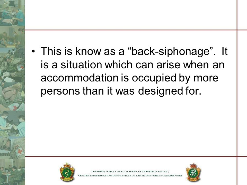 This is know as a back-siphonage