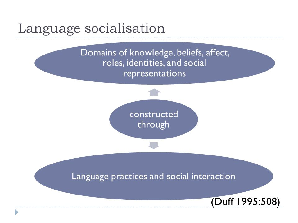 Language socialisation