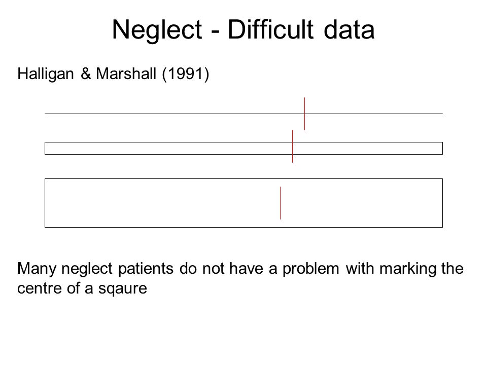 Neglect - Difficult data