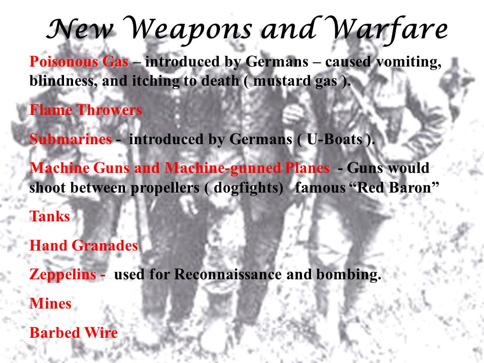 New Weapons and Warfare