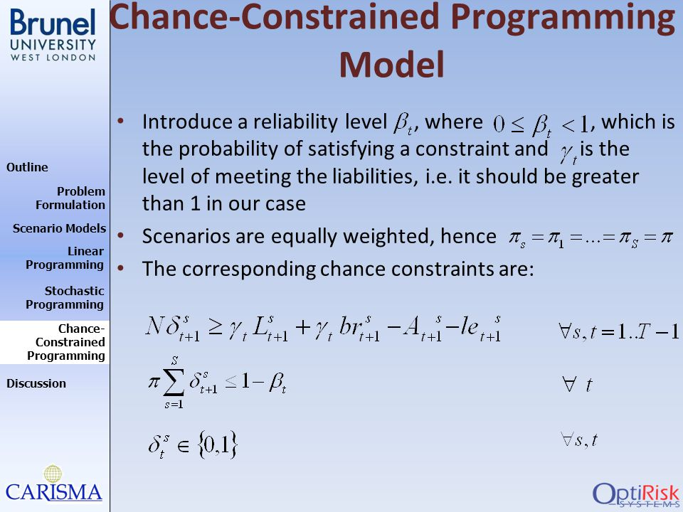 Chance-Constrained Programming Model