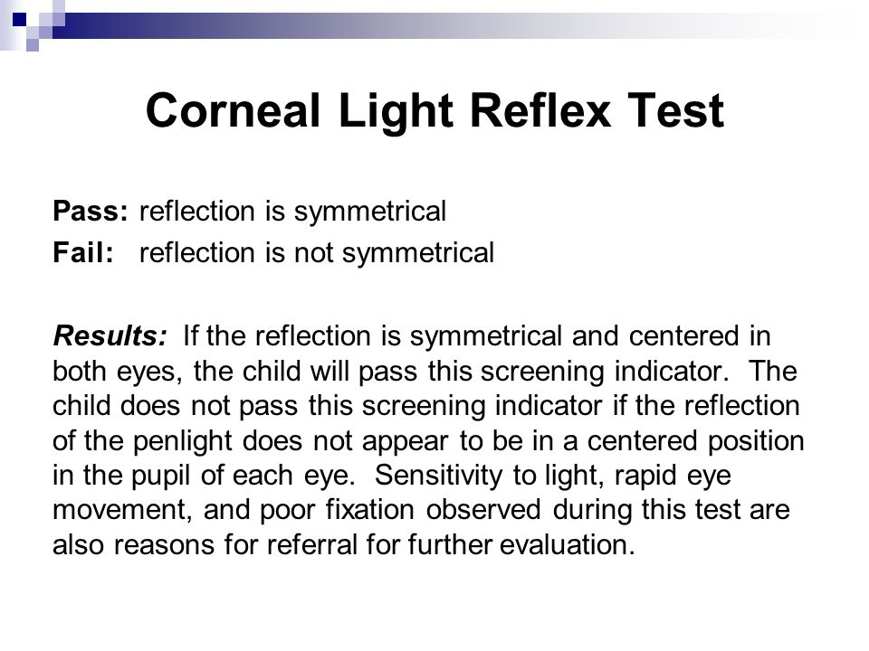 Corneal Light Reflex Test