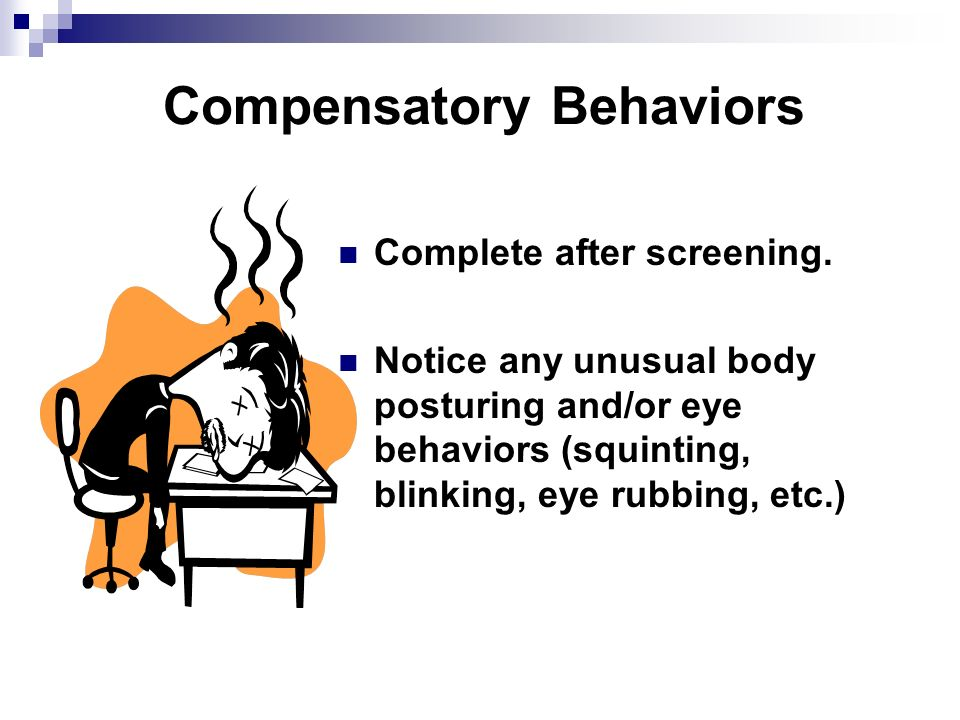 Compensatory Behaviors