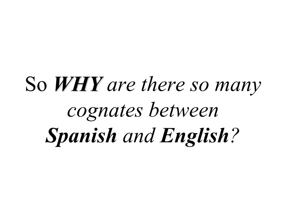 So WHY are there so many cognates between Spanish and English