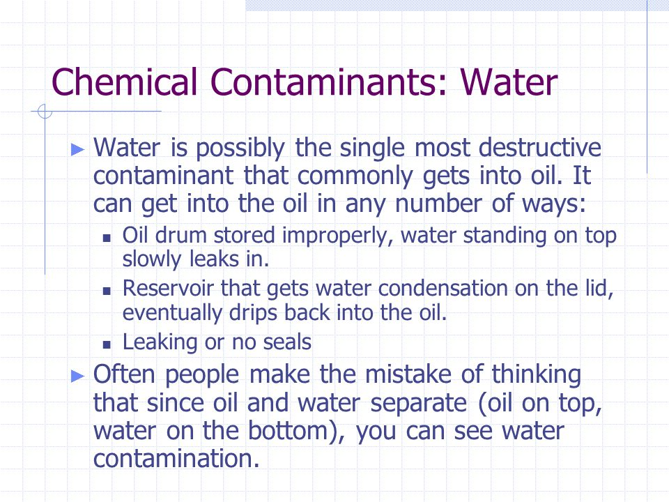 Chemical Contaminants: Water