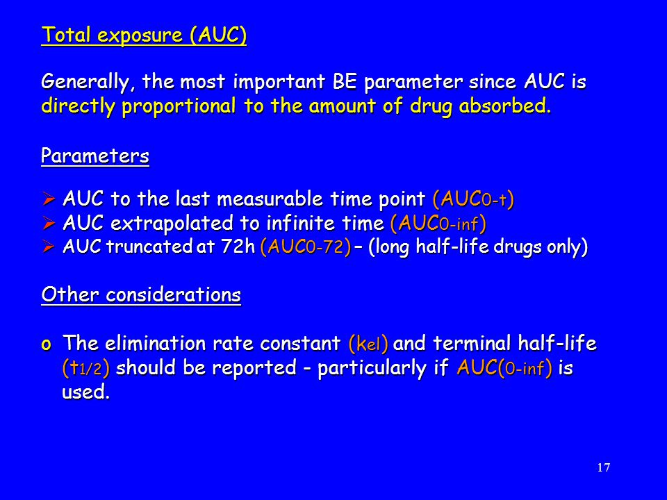 AUC to the last measurable time point (AUC0-t)