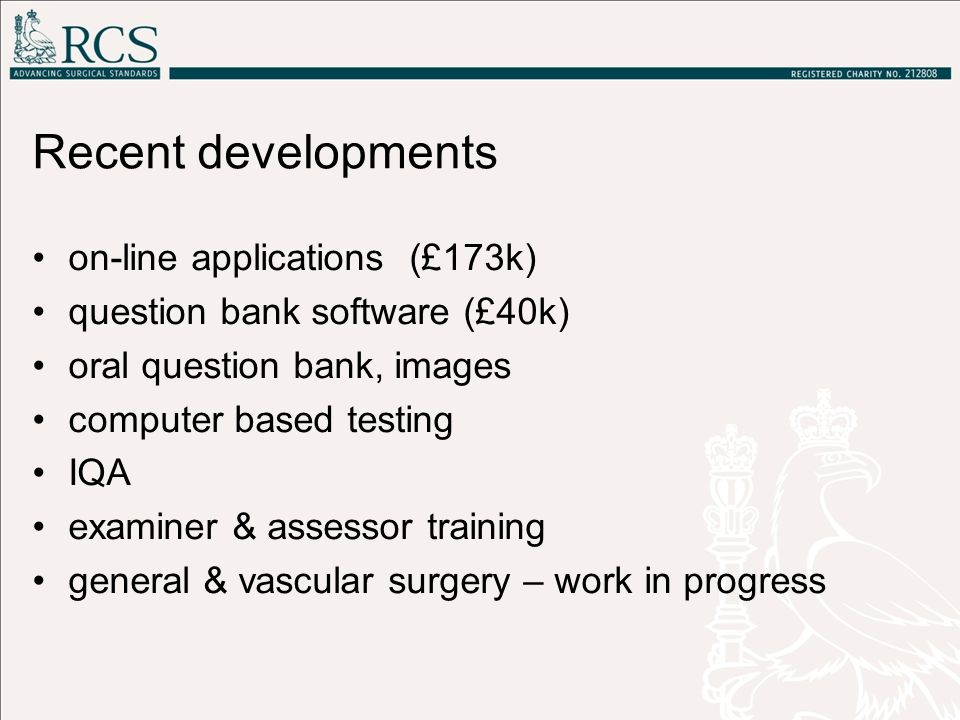 Recent developments on-line applications (£173k)