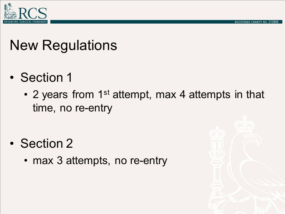 New Regulations Section 1 Section 2