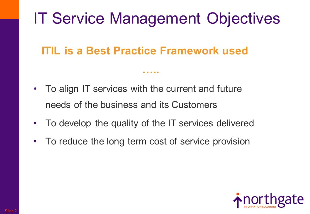 IT Service Management Objectives