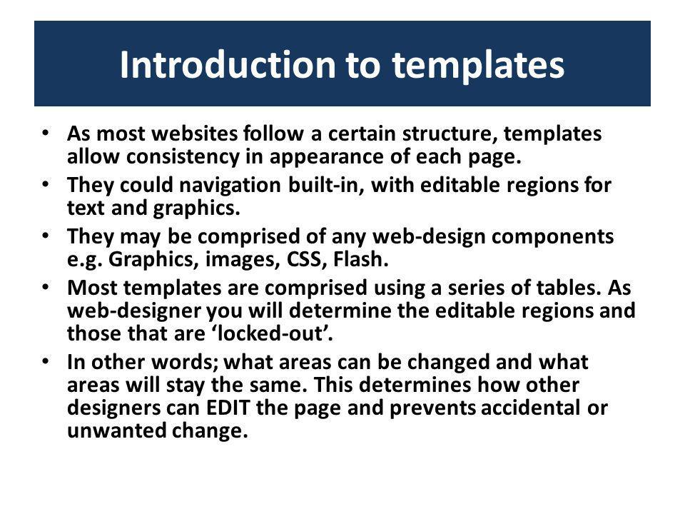 Introduction to templates
