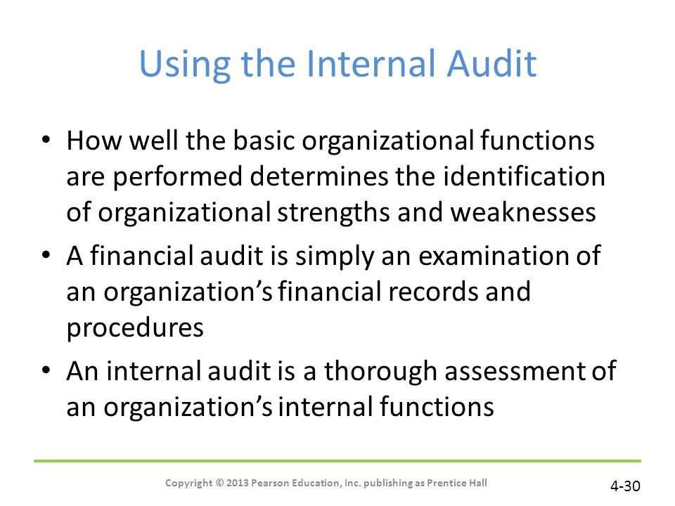 Using the Internal Audit
