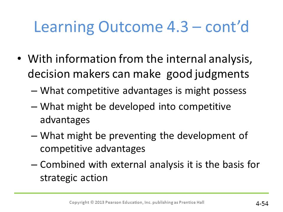Learning Outcome 4.3 – cont'd