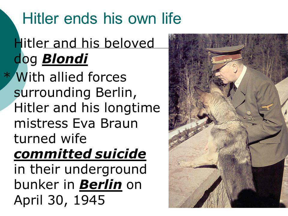 Hitler ends his own life