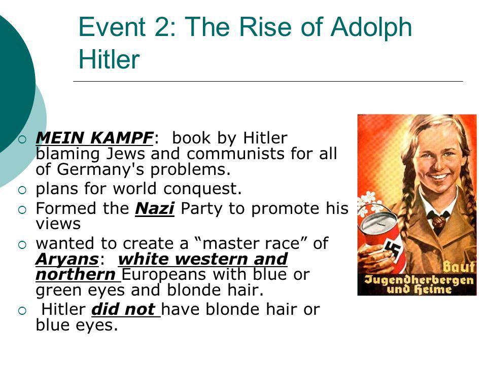 Event 2: The Rise of Adolph Hitler