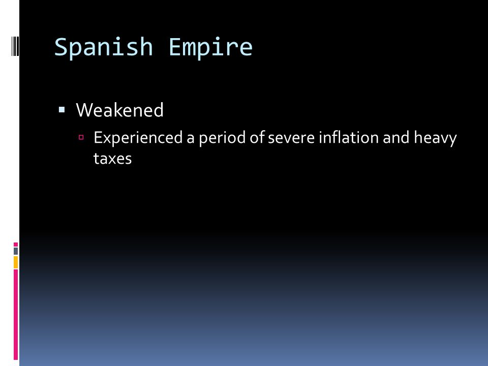 Spanish Empire Weakened
