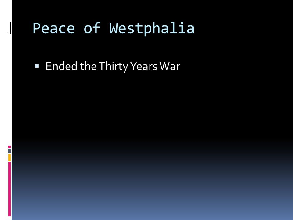 Peace of Westphalia Ended the Thirty Years War