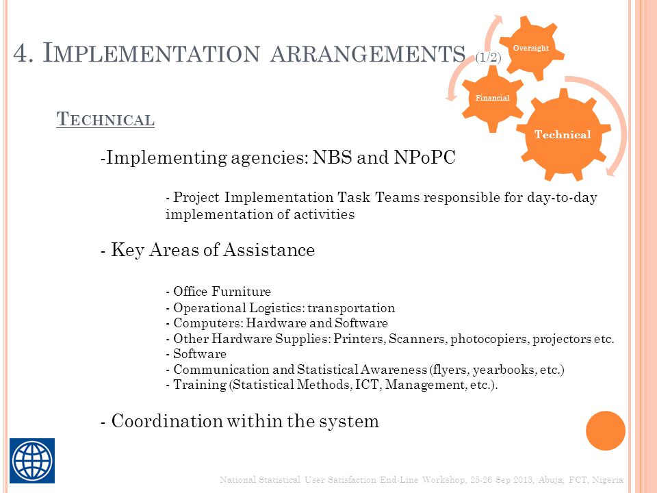 4. Implementation arrangements (1/2)